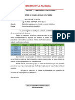 INFORME N° 001 VIA ALTERNA
