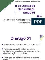Código de Defesa do Consumidor – Artigo 51