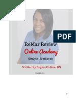 ReMar Online Academy Student Workbook