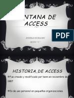 Partes de Ventana de Access
