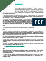 Selected Case Digests on Labor Standards