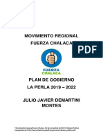 Plan de Gobierno de Julio Damartini