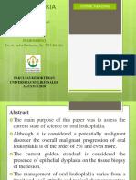 PPT Journal Reading Leukoplakia