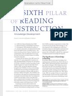 The Sixth Pillar of Reading Instruction