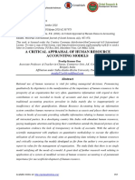 A CRITICAL APPRAISAL OF HUMAN RESOURCE ACCOUNTING MODELS