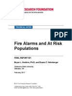 Rf Fire Alarms and at Risk Populations Report