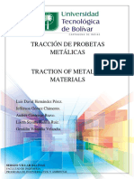 INFORME - TRACCIÓN DE PROBETAS METÁLICAS