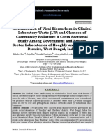 Identification of Viral Biomarkers in Clinical Laboratory Waste Lw and Chances of Community Pollution a Cross Sectional Study Amon