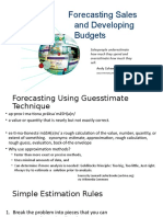 Forecasting Sales and Developing Budgets