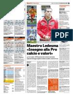 La Gazzetta Dello Sport 15-09-2018 - Le Partite di Oggi