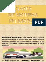 CLASIFICACIÓN MATERIAS PELIGROSAS.ppt