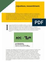 F Dubet Inégalités, injustices, ressentiments - AOC 2018 09 12