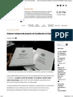 Cubanos Enriquecerán Proyecto de Constitución en Cuba - Mesa Redonda