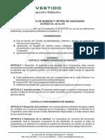 Coovestido-Reglamento de Ingreso y Retiro de Asociados 2018