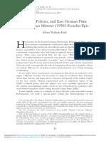 History Politics and East German Film the Thomas Muntzer 1956 Socialist Epic