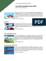 13 Juegos Móviles Educativos Para Niños