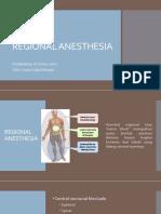 Regional Anesthesia
