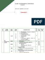 Planificare Calendaristica Clasa I