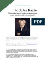 Schopenhauer - A Arte de Ter Razao