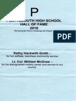 PHS 2018 Hall of Fame