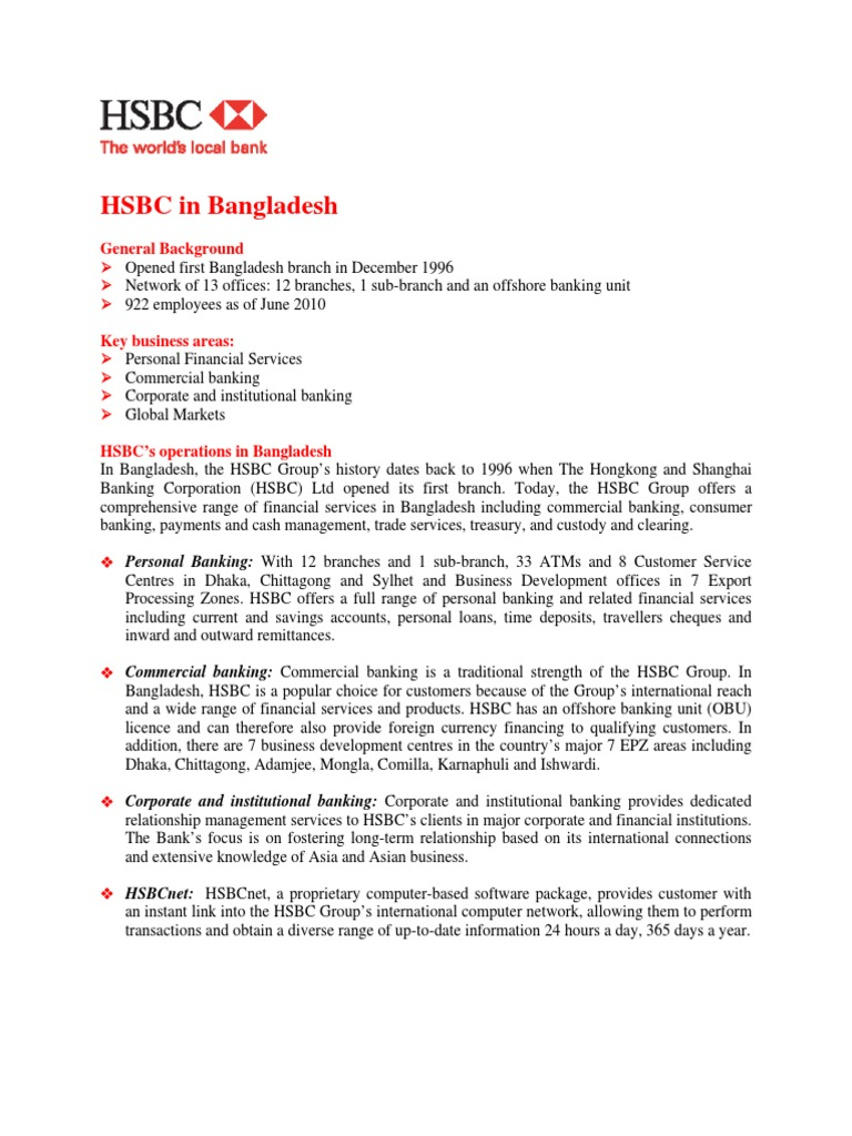 HSBC Background | Hsbc | Securities (Finance)