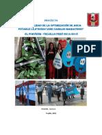 """Proyecto Sostenibilidad de Optimizaciòn de Agua I.E.""""JCM""""2018"""