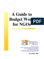 NGOs-A Guide to Budget Work for NGOs