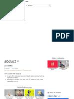 Abduct _ Define Abduct at Dictionary.com