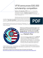 VFW Scholarship Contest