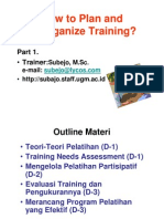 Training Part 1
