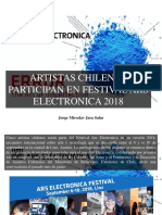 Jorge Miroslav Jara Salas - Artistas Chilenos Participan en Festival Ars Electronica 2018