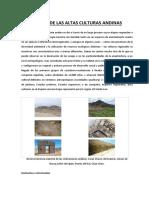 Origen de Las Altas Culturas Andinas