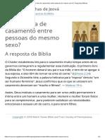 A Bíblia Fala de Casamento Entre Pessoas Do Mesmo Sexo_ _ Perguntas Bíblicas