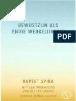 Rupert Spira - Bewustzijn Als Enige Werkelijkheid