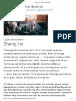Zheng He _ Lições Do Passado