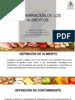 Contaminación de Los Alimentos