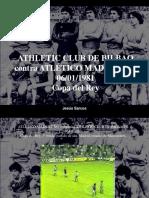 Jesús Sarcos - Athletic Club de Bilbao Contra Atlético Madrileño, 06-01-1981, Copa Del Rey