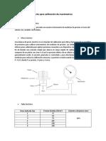 Balanza de Peso Muerto Para Calibración de Manómetros