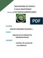 Control de Calidad de Los Cereales[1] Informe