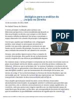 Rafael Tomaz de Oliveira - Proposta Para a Análise Do Conceito de Princípio No Direito