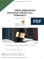 Atalá Correia, Luiz Dellore - NCPC Permite Julgamento Parcial de Mérito Nos Tribunais_ - JOTA