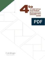 Catálogo 4ºConcursa GrandesMaestros del Patrimonios Artesanal