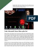 Link Alternatif Akses Situs Spbo Bet