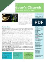 st saviours newsletter - 16 september 2018
