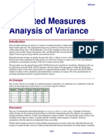 Repeated Measures Analysis of Variance