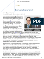 Rafael Tomaz, Lênio Streck - O Que é Isto – a Hermenêutica Jurídica