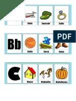 Abecedario Español Con 3 Imagenes de Cada Letra
