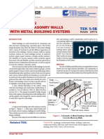 TEK 5-5B INTEGRATING CONCRETE MASONRY WALLS WITH METAL BUILDING SYSTEMS