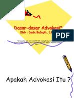 Dasar Advokasi 1.ppt