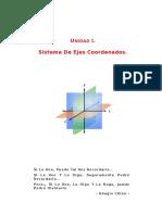 Unidad 1 - Sistema de Ejes Coordenados